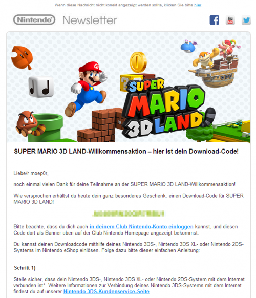 It's-a me, a scrambled download code!